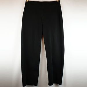 Eileen Fisher Heavyweight Knit Pull On Pants Black